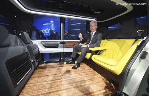 Volkswagen VW Sedric self driving mini bus