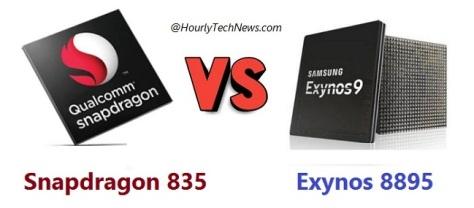 Snapdragon 835 vs Exynos 8895 direct comparison